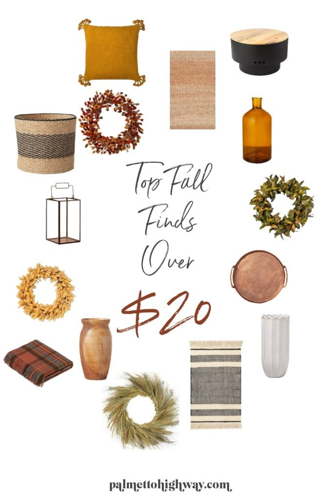 Fall Decor Finds pinterest graphic