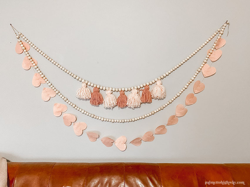 Valentine's Day Garlands in pink