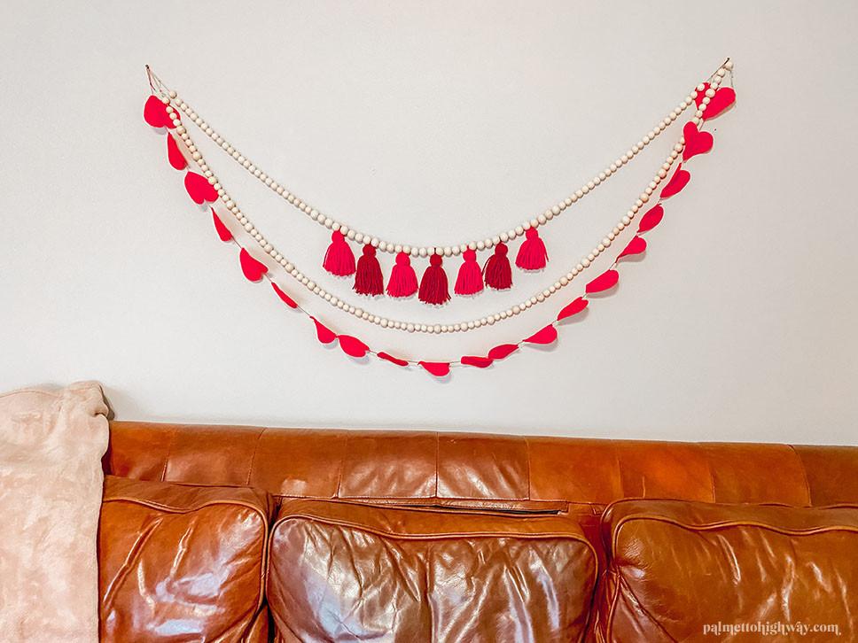 Valentine's Day Garlands in red