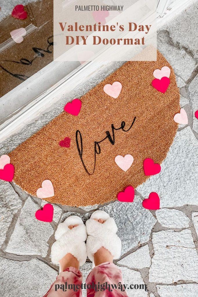 Valentine's Day Doormat that says 'love'