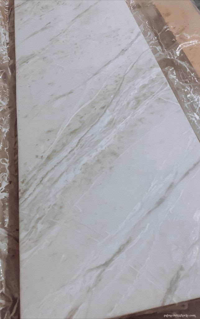 Marble Epoxy Countertops - close up of veining