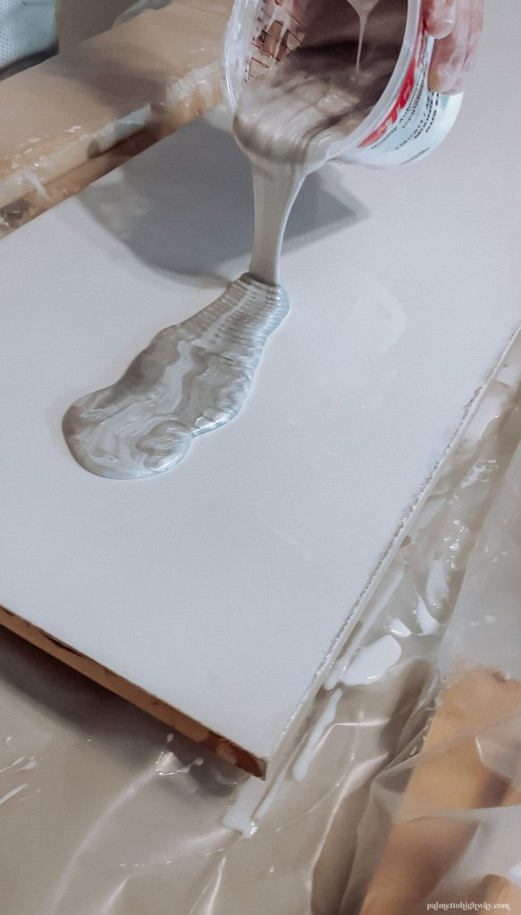 Marble Epoxy Countertops - dirty pour